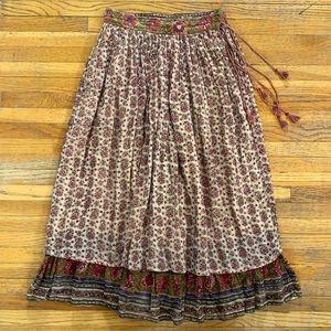 Vintage Flowered Peasant Skirt